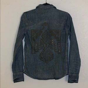 Ralph Lauren Denim & Supply Studded Top Blouse